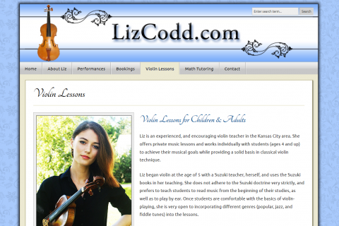 Liz Codd, Violinist & Violin Teacher