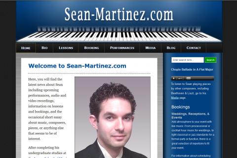 Sean Martinez, Pianist & Piano Teacher