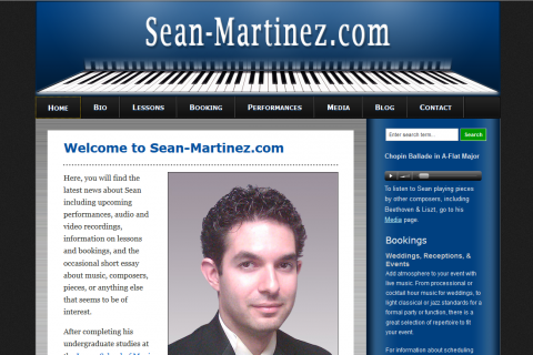Sean Martinez, Pianist & Piano Teacher